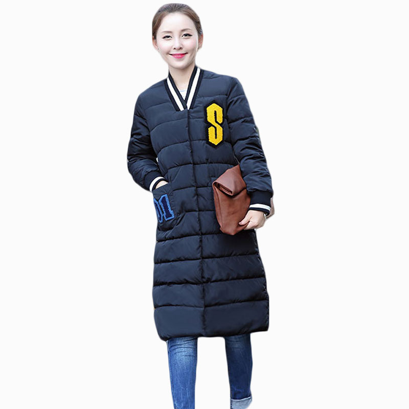 2017 NEW HOT WOMEN AUTUMN WINTER CLOTHES JACKER MID-LENGTH THICK WARM FEMALE PARKAS COTT ...