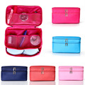 Double Layers Zipper Cloth Underwear Bra Storage Bag Travel Lady Cosmetic Bags Makeup Travel Bag