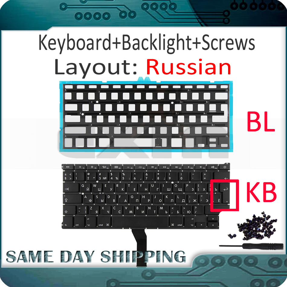 """New Small Enter Key Russian Keyboard For Macbook Air 11/"""" A1465 A1370 2011-2015"""