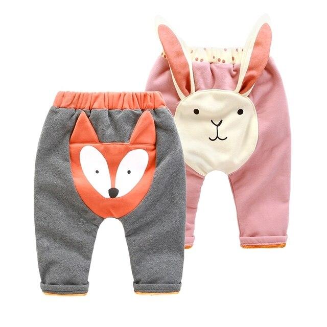 Новорожденный ребенок плюс бархатные брюки зимние 0-12 месяцев ребенок Харен брюки брюки толстые зимняя одежда