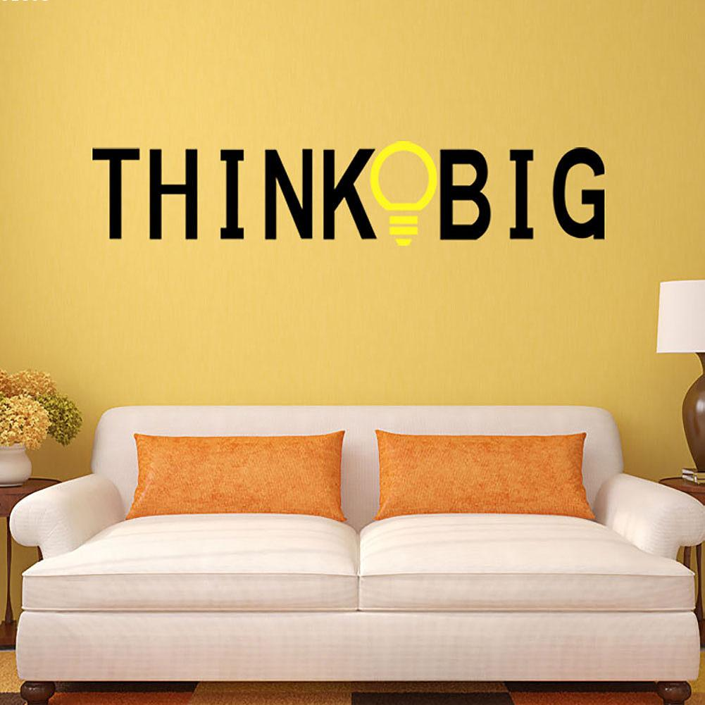 online get cheap big background wall stickers aliexpress com think big english proverbs home decor pvc wall stickers 30 150cm living room paper sofa
