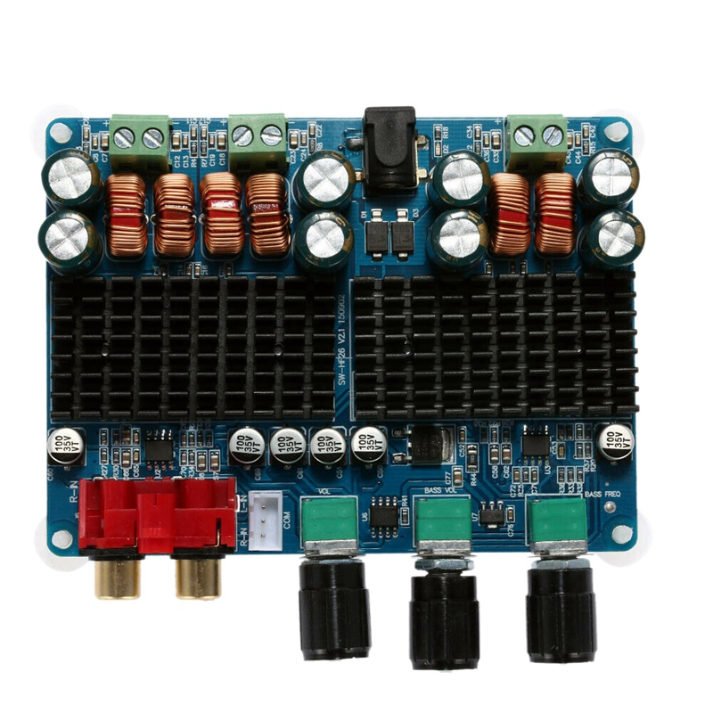 Qualität Sound Power Verstärker Bord 2,1 Kanal Digitale Subwoofer Power Audio Verstärker Für Home Dc12V-26V 50W x 2 + 100W Tpa311
