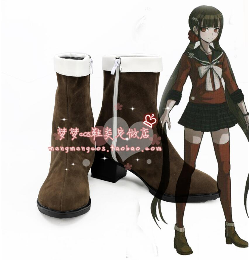 Danganronpa V3 Harukawa Maki Cosplay Costume Uniform Outfit boots Red Saber girls shoes  ...