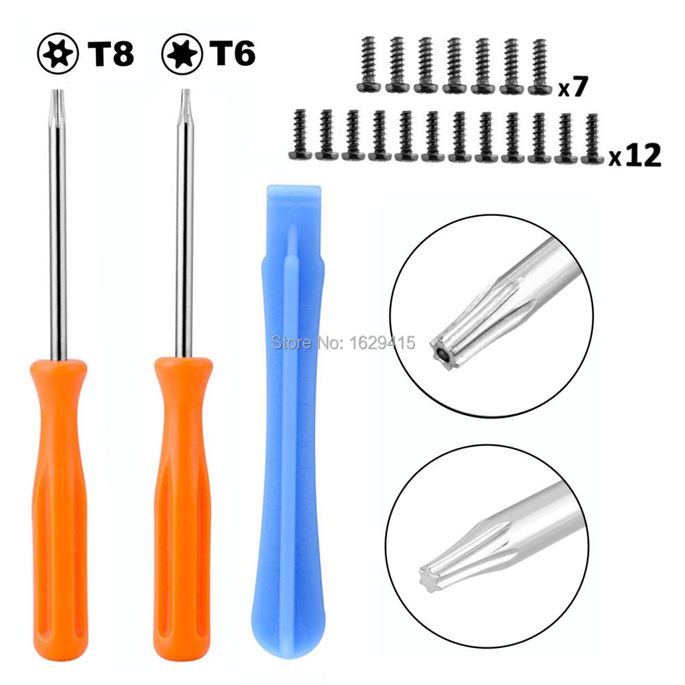 IVYUEEN Game Tools Kit Für Microsoft Xbox One Elite / S Slim Controller Sicherheit Torx T8 T6 Schraubendreher Abreißen Repair Tool