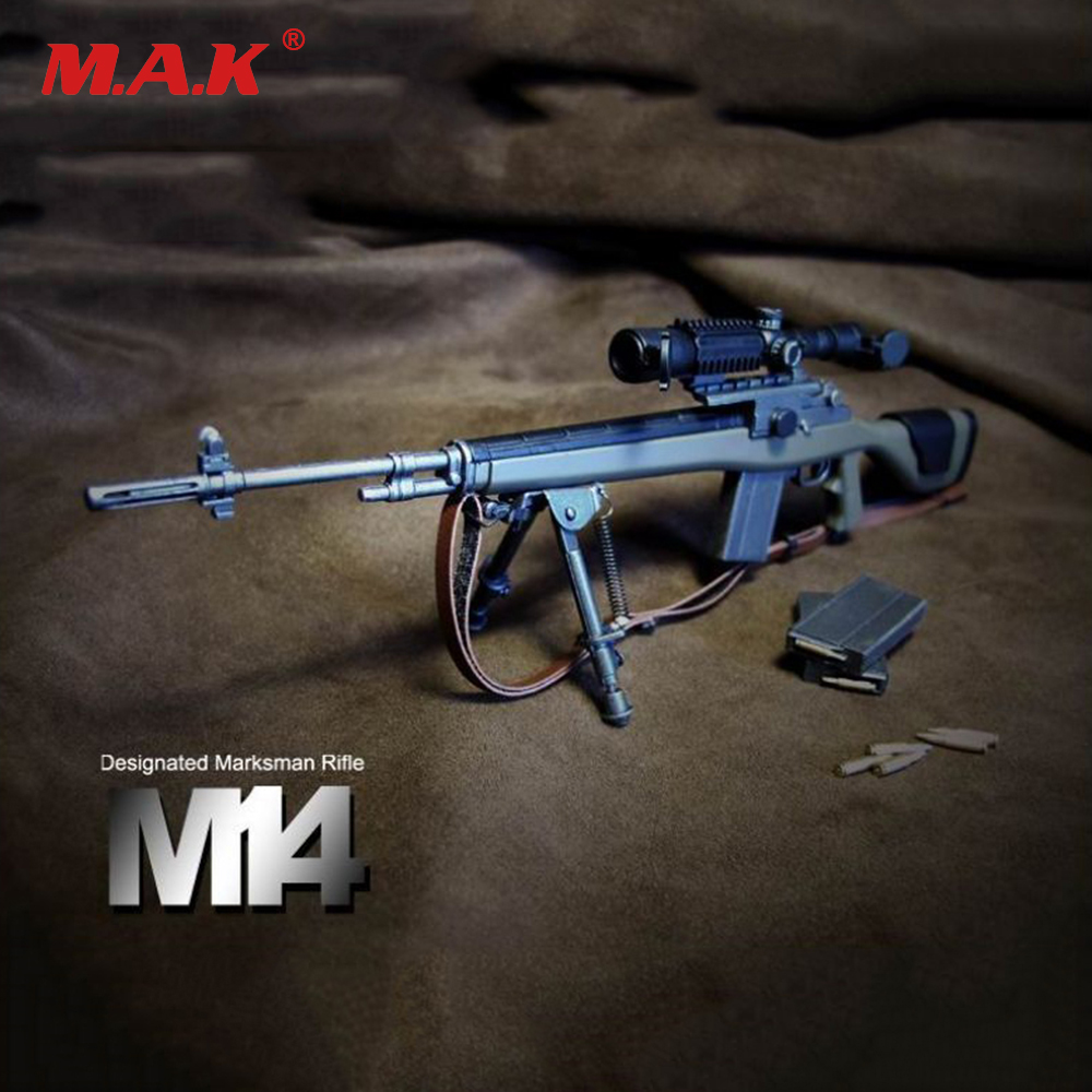 1:6 ABS Gun Model Designated Marksman Sniper Rifle M14 for Soldier Figure Accessory Collections