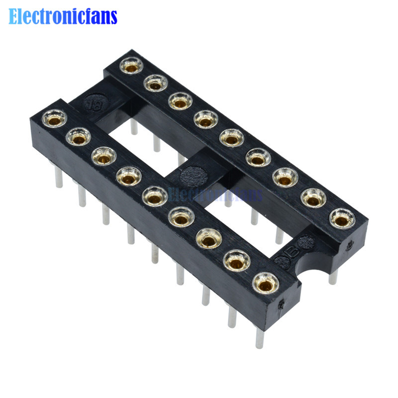 10pcs 40Pin DIP40 SIP Round IC Sockets Adaptor Solder Type gold plated machined