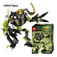 Smartable BIONICLE 191 adet Umarak Destroyer rakamlar 614 yapı blok oyuncaklar uyumlu tüm markalar 71316 BIONICLE noel hediyesi