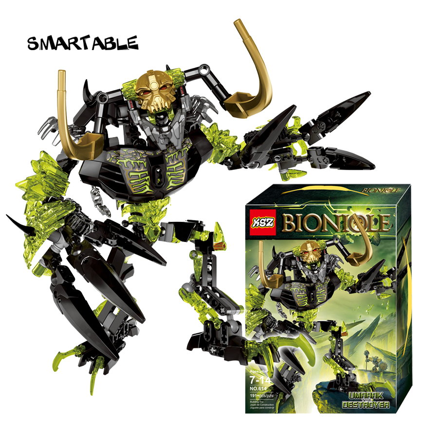 Smartable BIONICLE 191pcs Umarak Destroyer figures 614 Building Block toys Compatible All Brands 71316 BIONICLE Christmas Gift-in Blocks from Toys & Hobbies