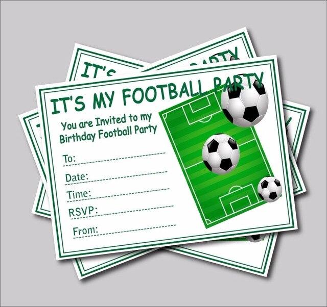 14 Pcs Lot Football Birthday Party Invitations Baby Shower Invites