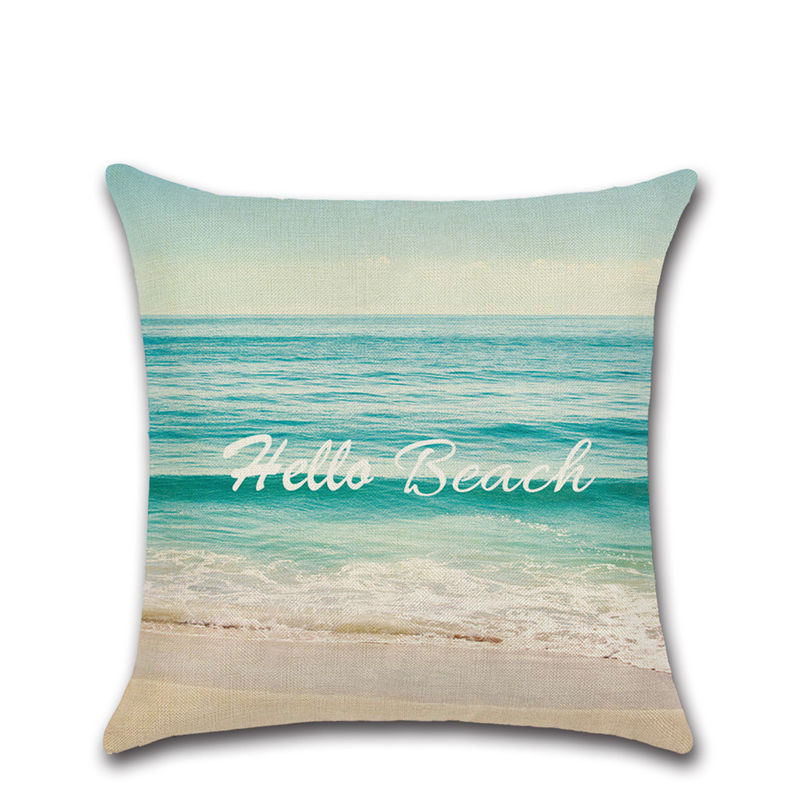Beach Ocean view shell starfish view cushion cover Chair seat sofa Decoration Home kids friend girl bedroom present Pillowcase