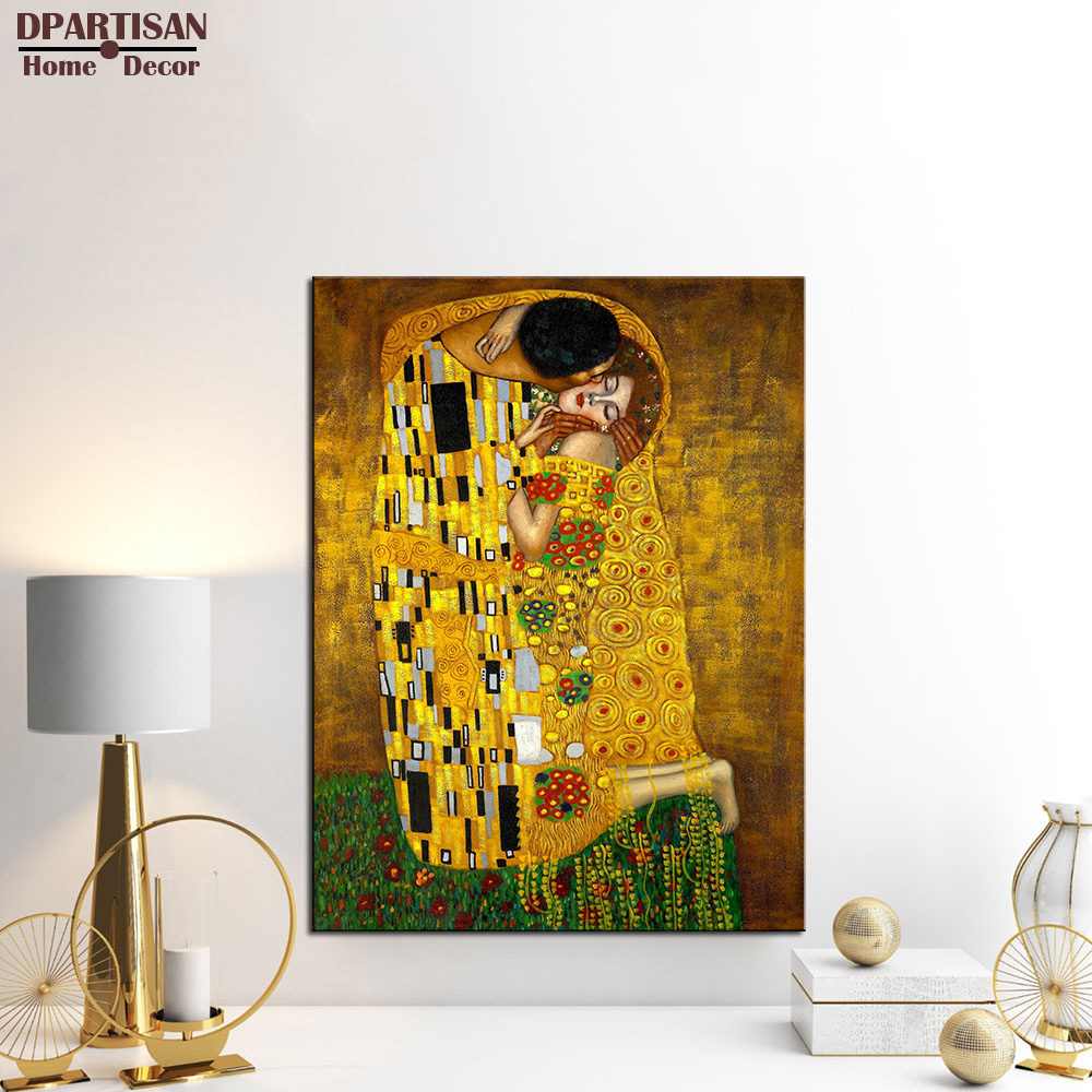 Golden Tears by Gustav Klimt Hand painted Oil Painting Reproduction ...