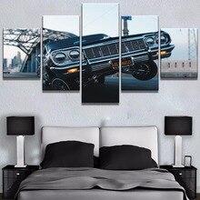 HD печать 5 панель Lowrider Hop Автомобильная картина куадро картины для декора на холсте стены Искусство предметы интерьера на стену Декор