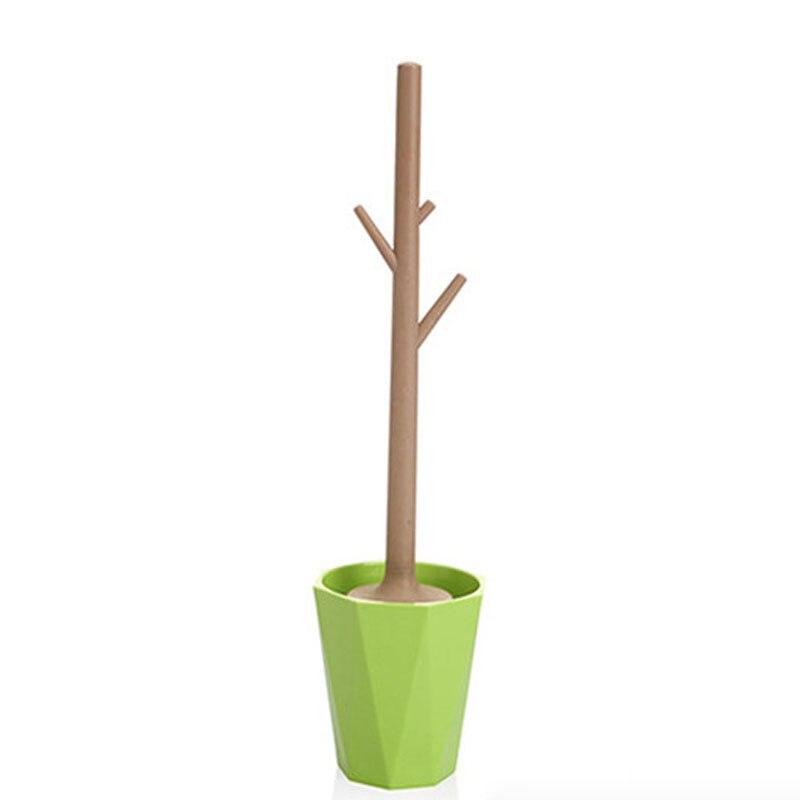 Creative Tree-shaped Toilet Brush Set Detachable Bathroom Toilet Brush Toilet Brush Cleaner (green)