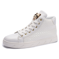 Classic Cool Boys Hip Hop Boots Spring Autumn Fashion Mens Street Dance High Top Shoes Pure