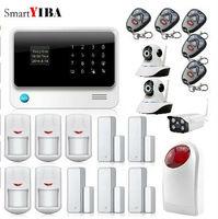 SmartYIBA приложение Управление безопасности охранной двери Сенсор сигнализации дома Крытый Открытый Wi Fi сети Камера мигает сирена