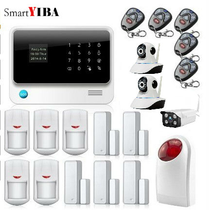 SmartYIBA APP Contrôle de Sécurité Antivol Porte Capteur D'alarme Maison Alarme Intérieure Extérieure Wifi Caméra Réseau Clignotant Sirène