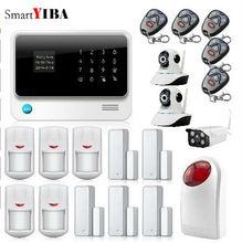 SmartYIBA APP Control Security Burglar Door Sensor Alarm Home Alarm Indoor Outdoor Wifi Network Camera Flashing Siren