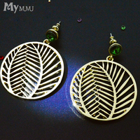 Mymumu Earrings Femininity Korean Personality Wild Circle Tree Earrings 2017 New Exaggerated Jewelry