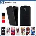 High quality fashion cartoon pattern flip up and down leather case for Pixus hit 2,Free gift