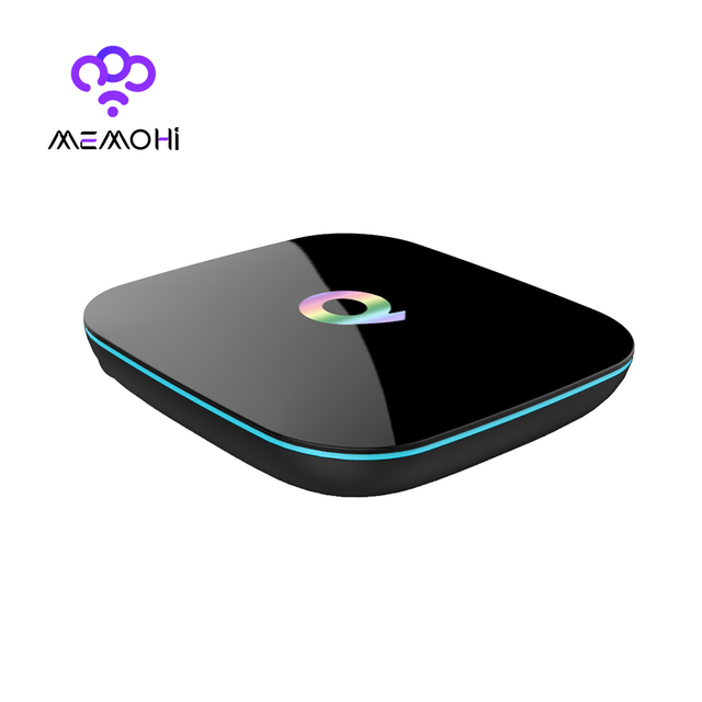 Q Box Android TV BOX Amlogic S905 X 2GB RAM 16GB ROM Smart TV Box Dual Band WiFi Bluetooth 4.0 KODI Online update IPTV Q-BOX