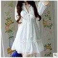Новый 2014 летняя мода лук повседневную одежду плюс размер одежды высокой талия V-образным Вырезом шифон цельный платье Ml XL XXL XXXL DY-70D