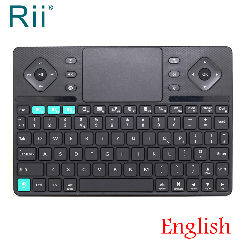 [Free Shipping] 2017 Rii K16 Dual Mode (Bluetooth/2.4G) Multimedia Wireless Keyboard+TouchPad+Blacklit UK Version