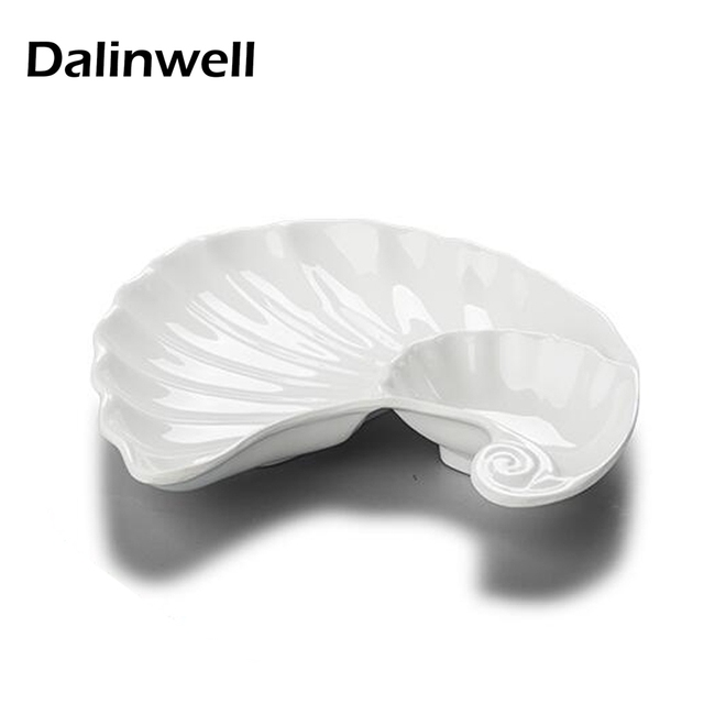 1PC Creative White Melamine Divided Flavor Sushi Dish Non-toxic Tasteless Irregular Shaped Catering Shell  sc 1 st  AliExpress.com & 1PC Creative White Melamine Divided Flavor Sushi Dish Non toxic ...