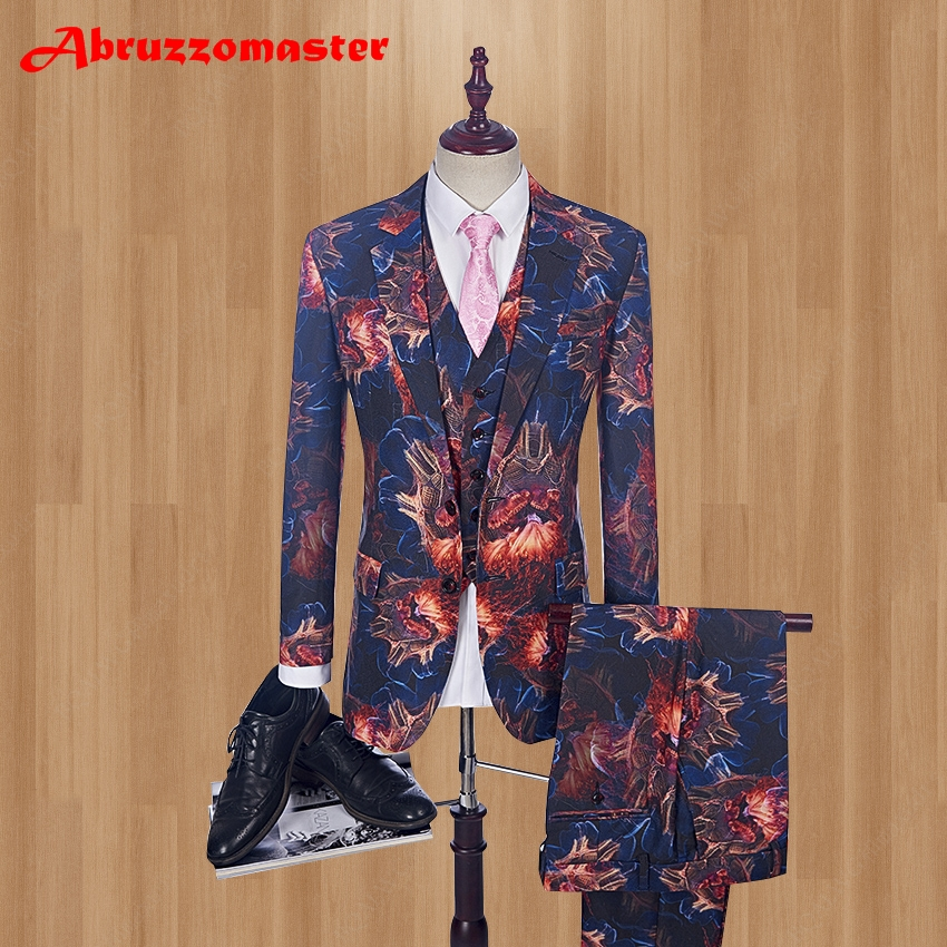 2018 Stage Clothing Slim Fit Groom Tuxed