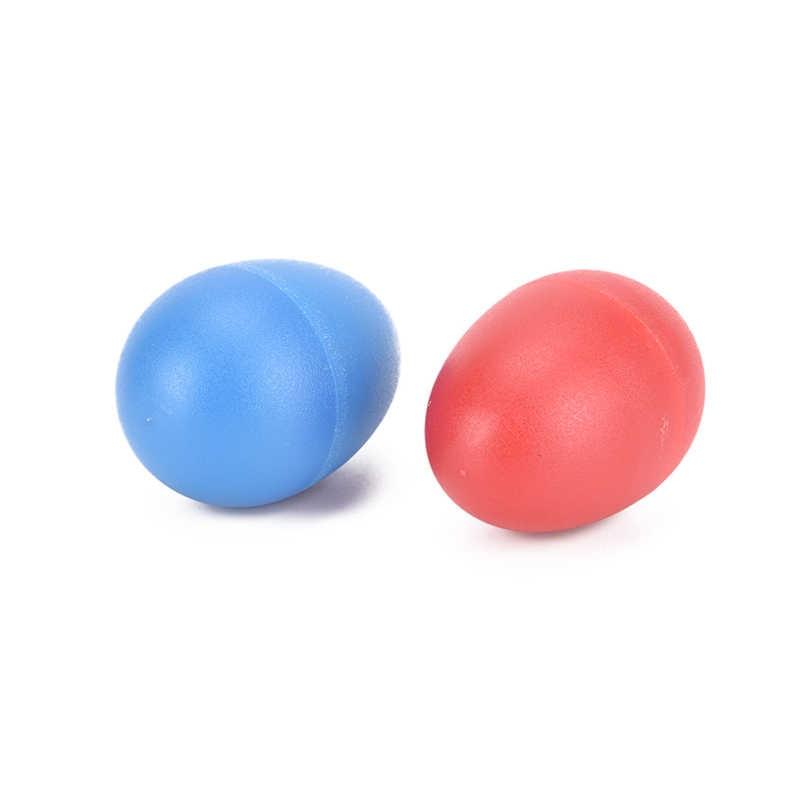 2 Pcs/lot Merah Biru Alat Musik Aksesoris Berwarna-warni Suara Telur Shaker Marakas Perkusi