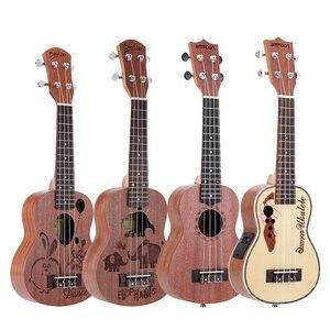 "Image 2 - Ammoon série ululele 21 ""ukulele conjunto 15 traste 4 cordas cordas instrumento musical 19 estilos ukulele"