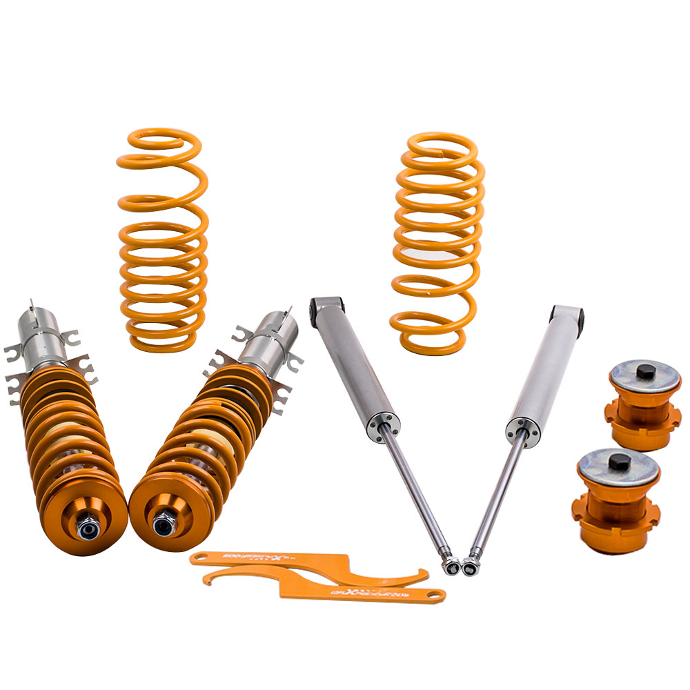 Coilover Suspension Full Spring Kit for VW Volkswagen Golf Mk4 1998-2005 Coilovers Fits SEAT Leon MK1 1M 1999-2005 накладки на пороги seat leon ii 2005 2013 carbon