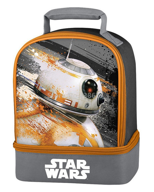 3aa21d092ffa US $15.5 |Boys Star Wars Lunch Bag BB8 Dual Compartment Insulated Lunch Kit  for Lunch Box Kids Children School Picnic Food Thermal Bags-in Lunch Bags  ...