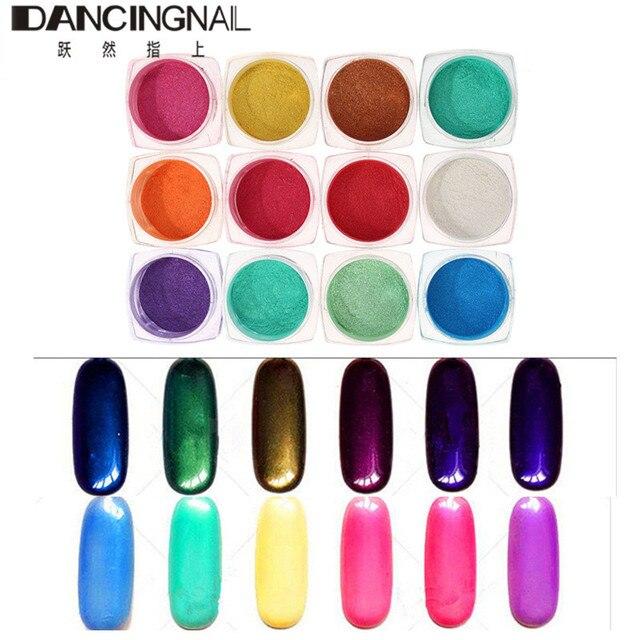 12 Colors Shinning Mirror Powder Nail Art Chrome Pigment Glitters Effect Dust DIY Nail-Art Manicure Tools 2g/Box New Hot