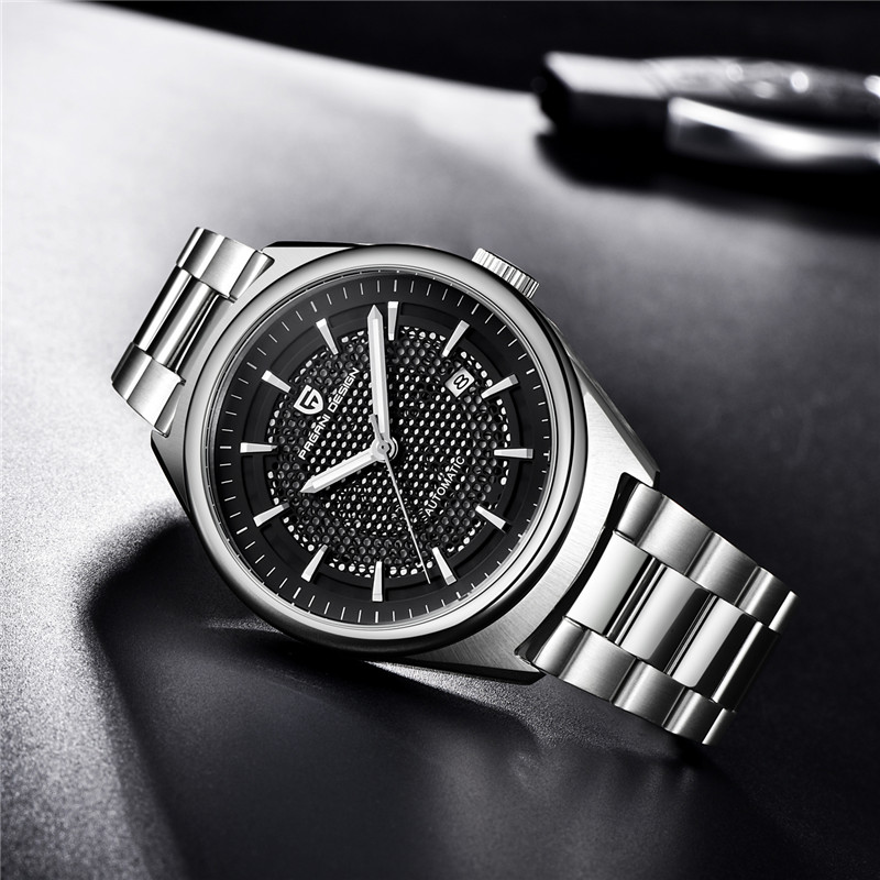 2019 men 39 s watches PAGANI design Luxury mechanical Watch fashion business stainless steel Automatic Date Clock Relogio Masculino in Mechanical Watches from Watches