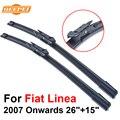 Qeepei lâmina de limpador para fiat linea 2007 em diante 26 ''+ 15'' de alta qualidade iso9001 borracha natural limpar frente brisa cpb107