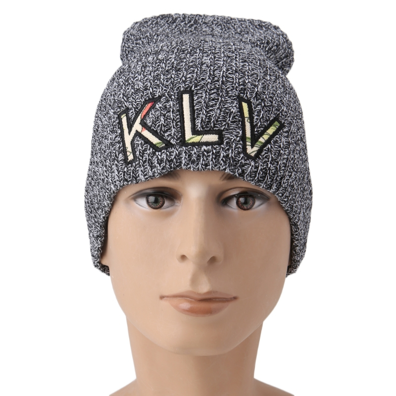 2017 Winter Fashion Unisex Women Men Knit Baggy Beanie Hat Warm Oversized Slouchy Ski Cap New Casual Solid New Letter KLV Cap winter casual cotton knit hats for women men baggy beanie hat crochet slouchy oversized ski cap warm skullies toucas gorros 448e