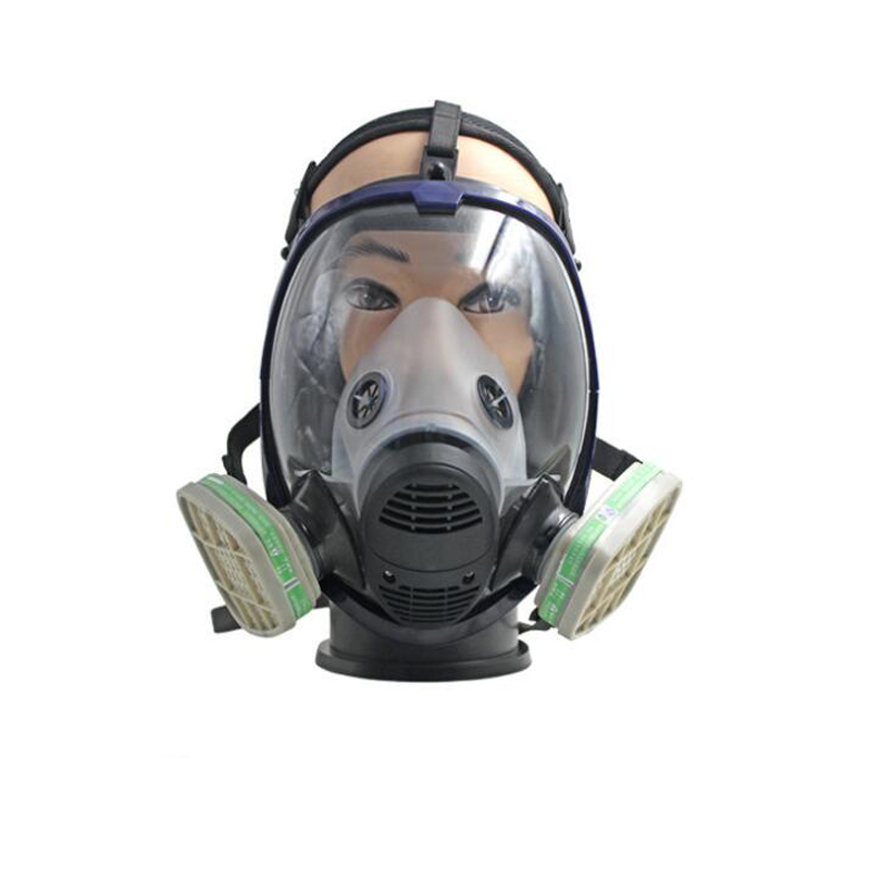 купить Industry Safety Super Viewing Gas Mask Defense Ammonia, Hydrogen Sulfide Mask Filter Respirator Chemical-Gas-Mask дешево