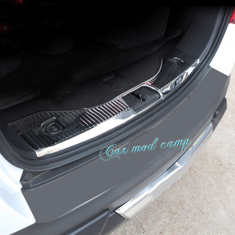 Stainless Steel Inner Rear Bumper Protector Plate Trim 1pcs For Vauxhall Opel Mokka / Buick Encore 2013 2014 2015 2016 2017 for buick encore opel mokka 2012 2014 car rain lamp super bright special laser beam rear end collision warning light page href