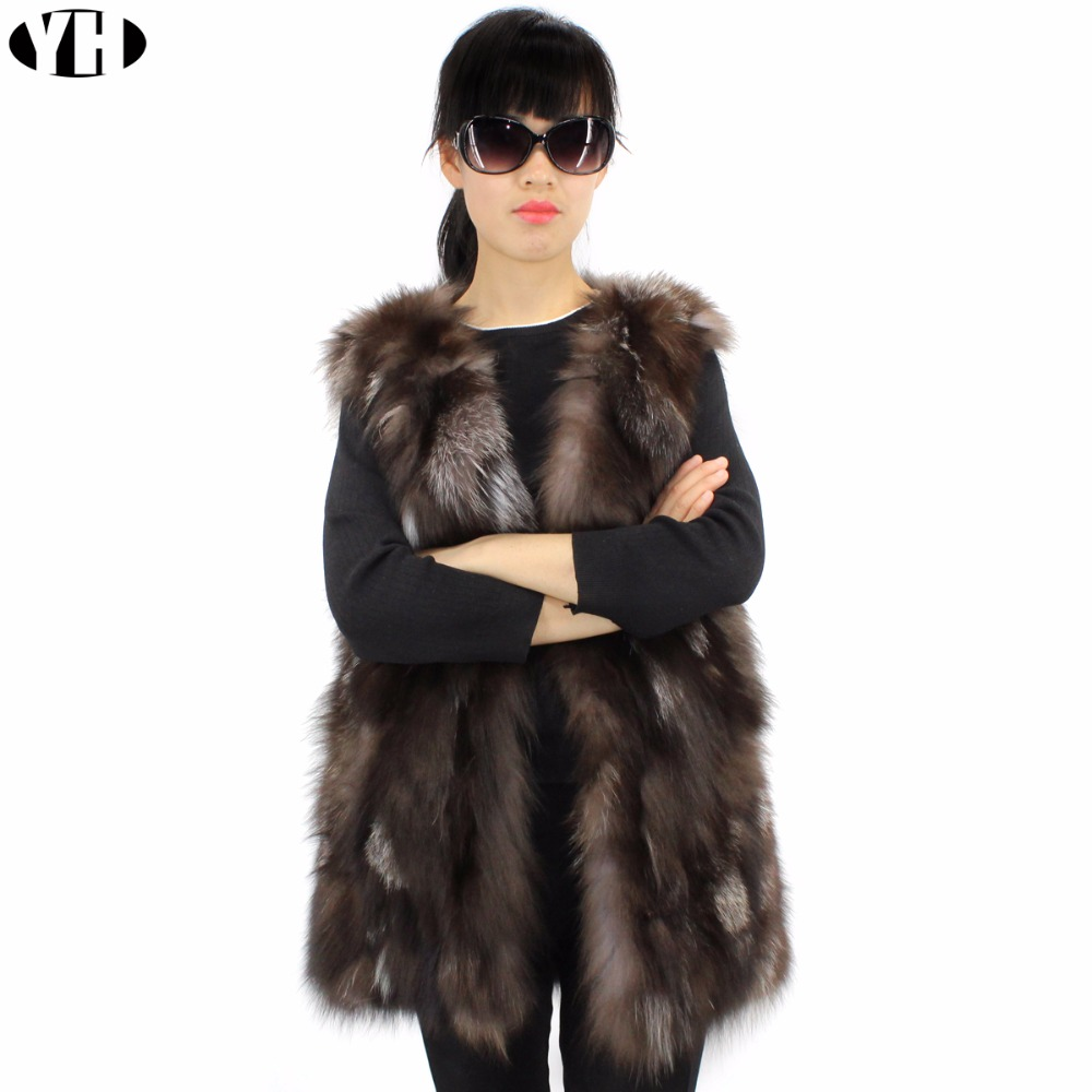 Dame Vestes Pour Fourrure Renard Femelle D'hiver 2018 Femmes Gilets Marque De Gilet Véritable Réel Naturel tqPw8zfaW