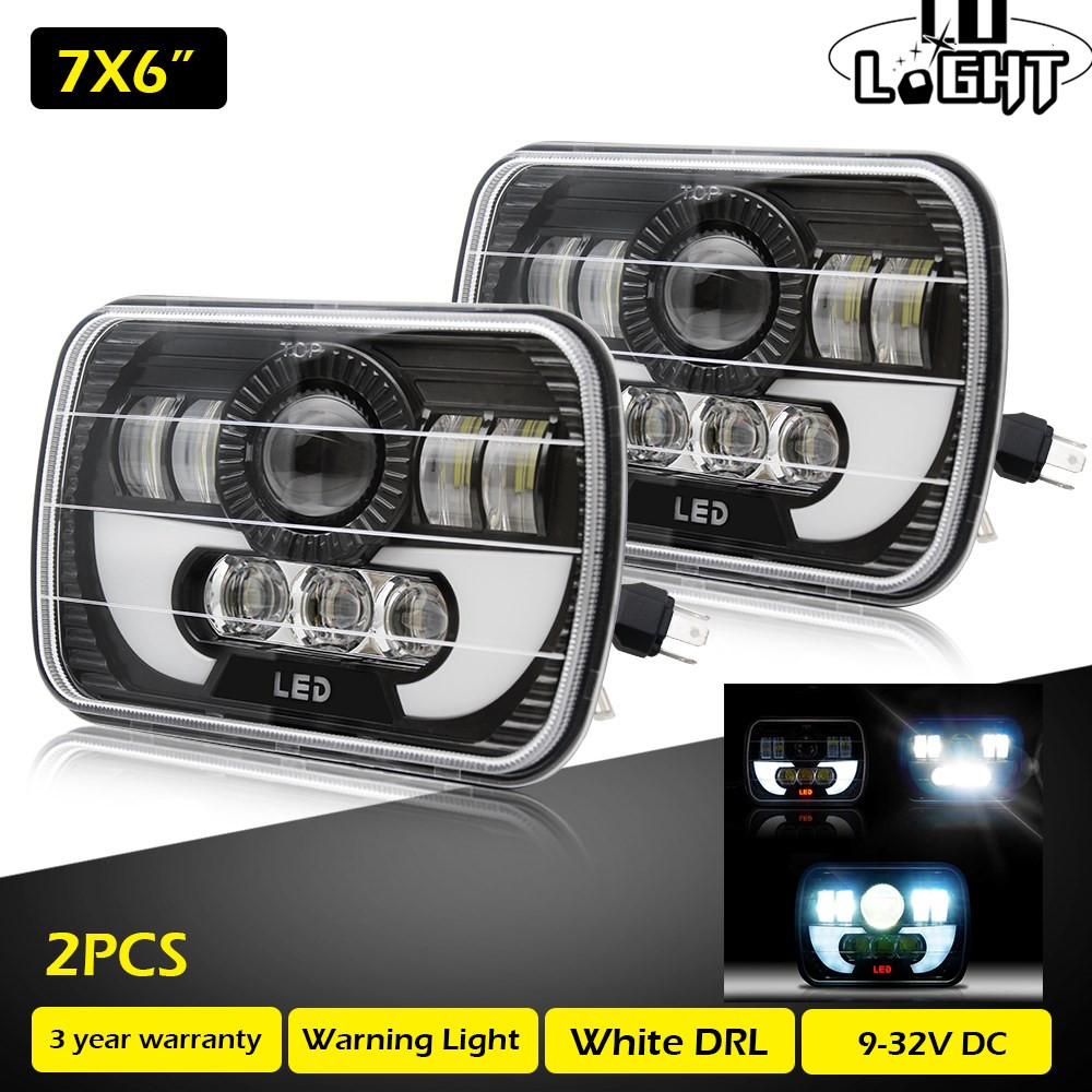 CO LIGHT 1 Pair Running Lights 7X6 Inch 55W Drl Led 40W 15W Angel Eyes Leds for Auto Jeep Wrangler Chevy S10 Sonoma Truck 5x7CO LIGHT 1 Pair Running Lights 7X6 Inch 55W Drl Led 40W 15W Angel Eyes Leds for Auto Jeep Wrangler Chevy S10 Sonoma Truck 5x7