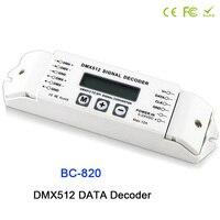 BC 820 DMX to SPI Signal Decoder convertor DMX512 LPD6803 8806 WS2811/ 2801 WS2812B 9813 led pixel light Controller DC5V 24V
