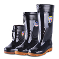 Male boots high fashion waterproof shoes slip-resistant overstrung knee-high rainboots rain short shoes safety shoes