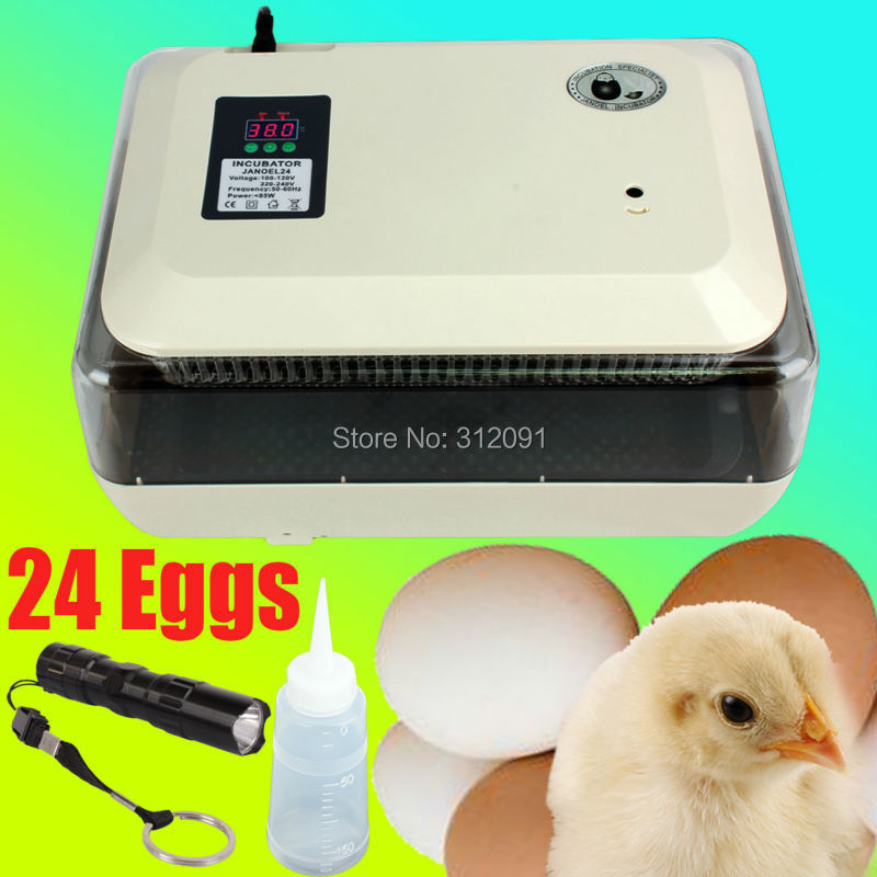 (Ship From EU) JANOEL Digital 24 Egg Chicken Hatcher LED Temperature Control Fully Automatic Egg Turning Incubators Poultry