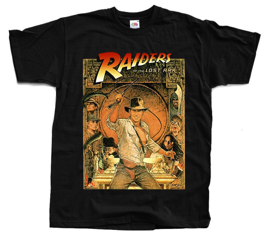Raiders Of The Lost Ark Poster T Shirt White Yellow Red All Sizes S 5Xl ...