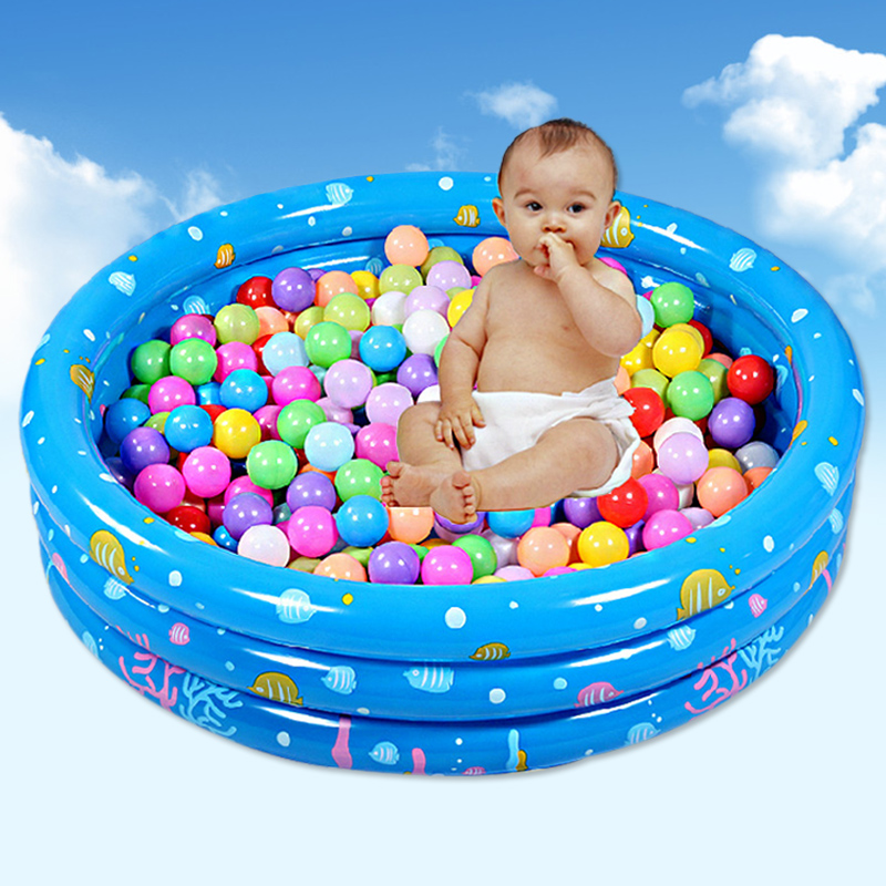 Inflatable ball pool for children indoor sand and swiming ball pit round ring with 50pcs balls