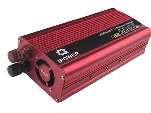 Image 5 - Çift USB 2000W Watt DC 24V AC 220V taşınabilir araba güç invertörü şarj dönüştürücü adaptör DC 24 AC 220 modifiye sinüs dalga
