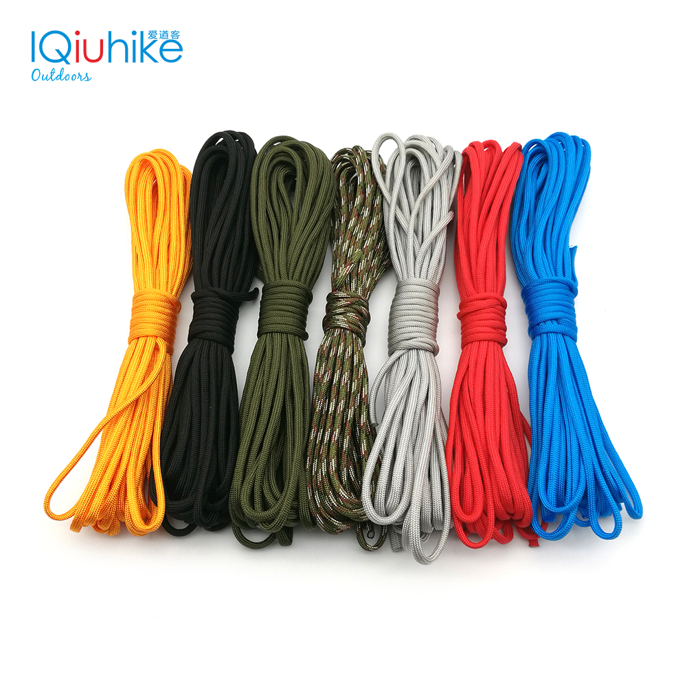 10 Meters Paracord 550 Paracord Rope Cuerda Escalada Mil Spec Type III 7 Strand Paracorde Outdoor Campling Survival Kit 25 50 100ft paracord 550 paracord parachute cord lanyard rope mil spec type iii 7 strand climbing camping survival equipment