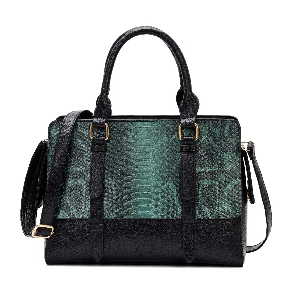 Snake PU Leather Handbag For Women 2019 Luxury Tote Bags Fem