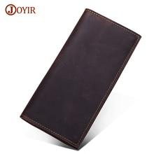 Joyir Brand Genuine Leather Wallet Long Purse Men Luxury Cow Wallet Men Real Leather Long Wallet Casual Carteira Masculina 2036