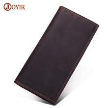 Joyir Brand Genuine Leather Wallet Long Purse Men Luxury Cow Wallet Men Real Leather Long Wallet Casual Carteira Masculina 2036